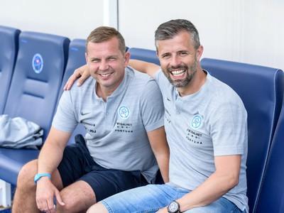 Tréner Jaroslav Kentoš (vľavo)