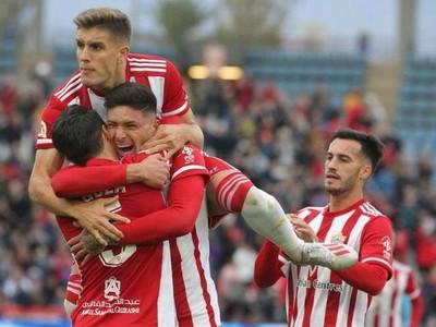 Radosť hráčov UD Almería