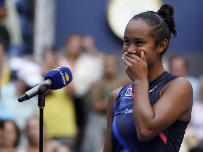 Kanadská tenistka Leylah Fernandezová