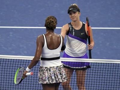 Jelina Svitolinová a Venus Williamsová