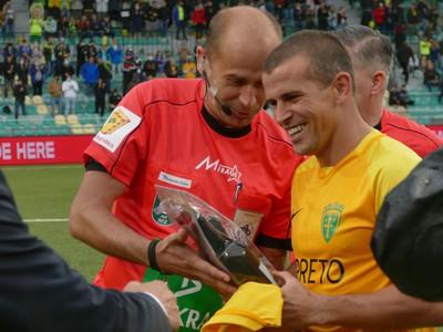 Viktor Pečovský počas rozlúčky