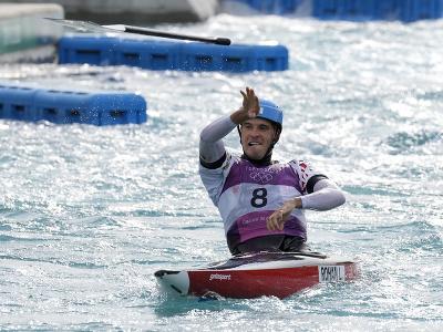 Český vodný slalomár Lukáš Rohan
