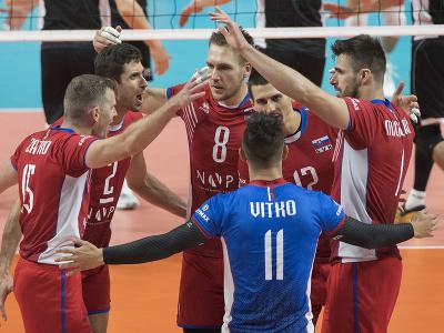 Víťazné oslavy slovenských volejbalistov