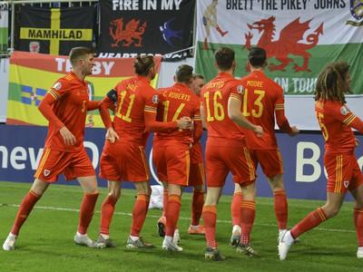 Gólové oslavy futbalistov Walesu