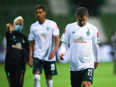 Sklamaní hráči Werderu Brémy