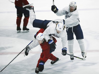 Momentka z tréningu Winnipegu