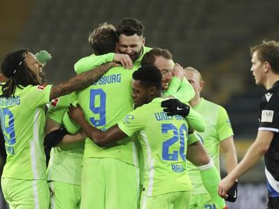 Radosť futbalistov Wolfsburgu