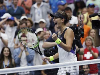 Belinda Benčičová a jej víťazná radosť