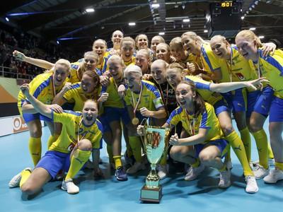 Švédske florbalistky siedmykrát za