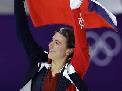 Češka Karolína Erbanová oslavuje