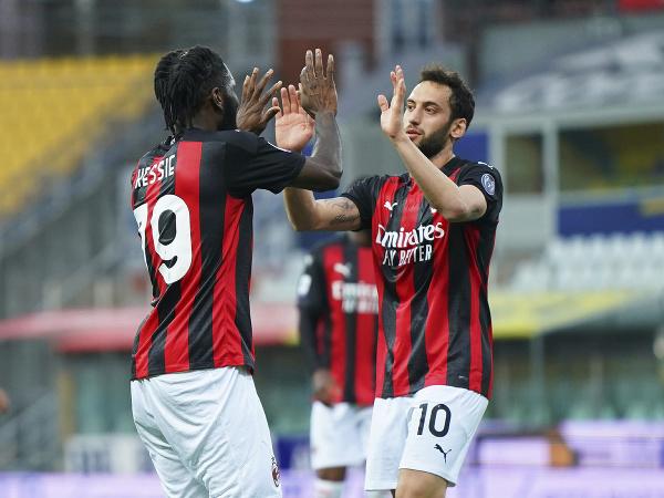 Radosť hráčov AC Miláno