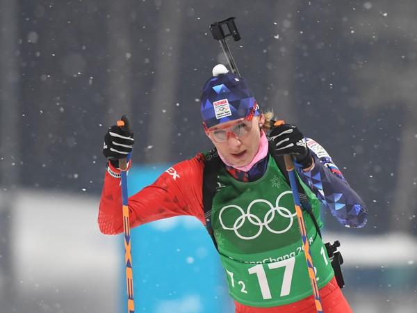 Anastasia Kuzminová v štafete žien na 4x6 km