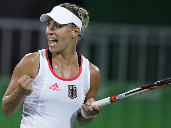 Nemecká tenistka Angelique Kerberová počas olympiády v Riu de Janeiro