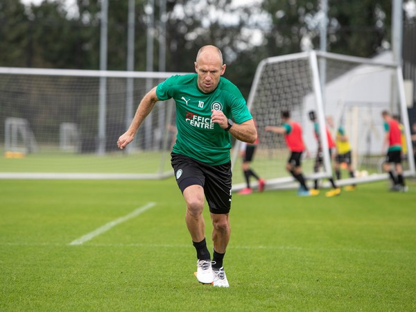 Arjen Robben počas tréningu