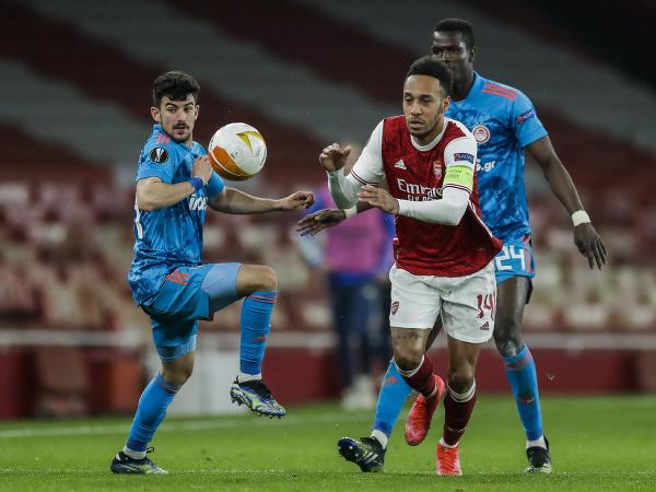 Útočník Arsenalu Londýn Pierre-Emerick Aubameyang