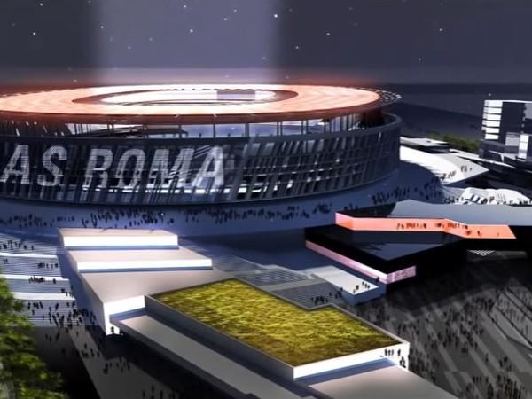 Vizualizácia nového štadióna AS Rím