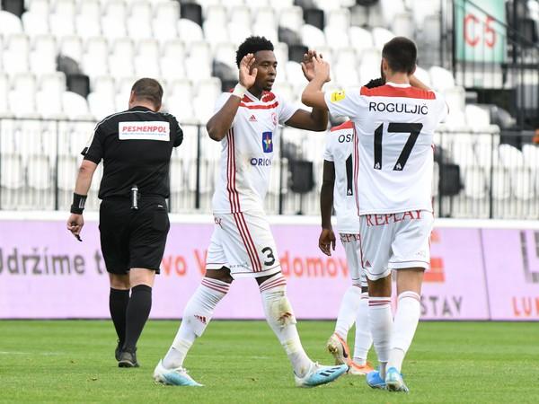 Radosť hráčov AS Trenčín po strelenom góle