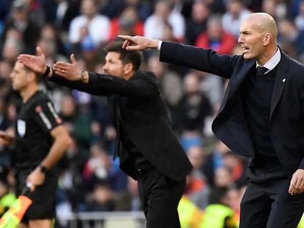 Diego Simeone a Zinedine Zidane