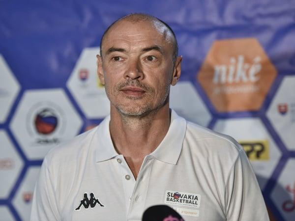 Na snímke tréner slovenskej basketbalovej reprezentácie mužov Oleg Meleščenko