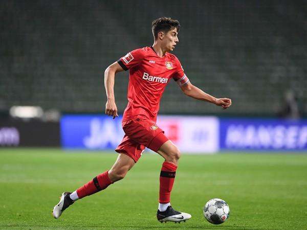 Futbalový útočník Kai Havertz z Bayeru Leverkusen