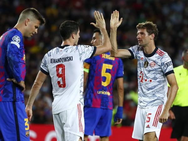 Sklamaný Gerárd Piqué po góle Bayernu