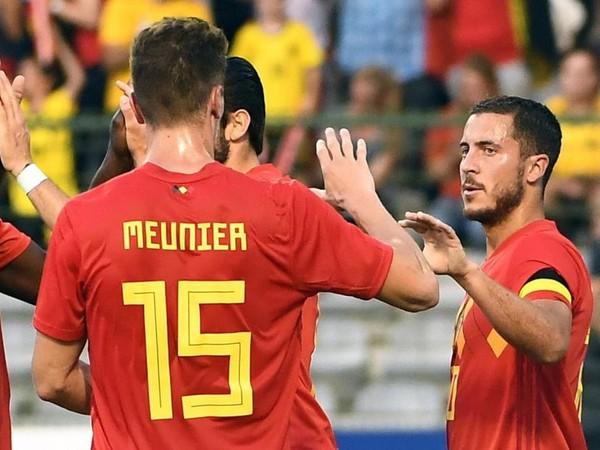 Hráči Belgicka sa tešia z gólu