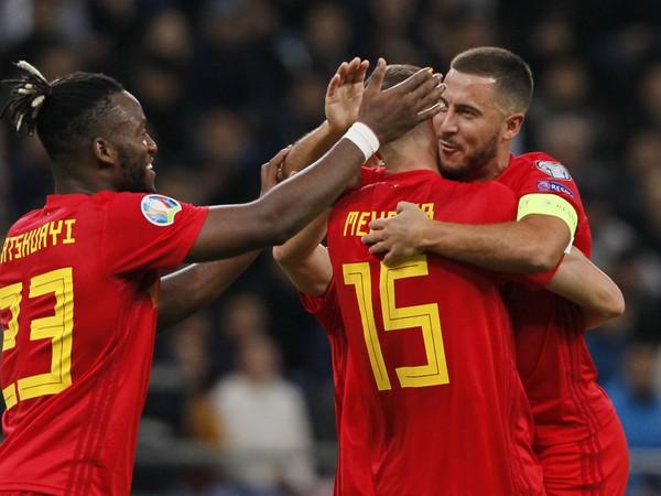 Radosť hráčov Belgicka