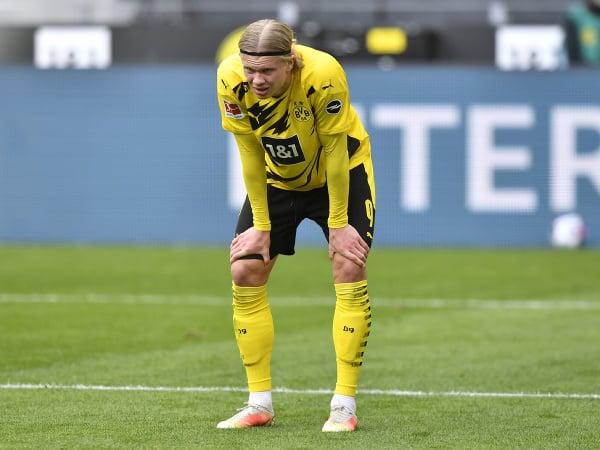 Nórsky futbalista Erling Haaland v drese Borussie Dortmund