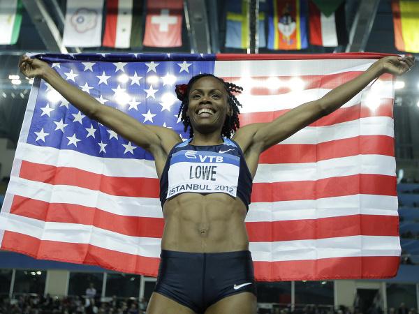 Americká atlétka Chaunté Loweová