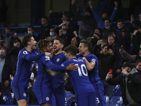 Gólové oslavy futbalistov Chelsea