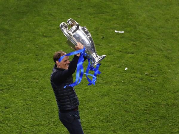 Thomas Tuchel s pohárom víťaza Ligy Majstrov