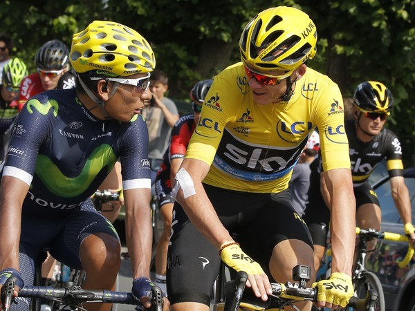 Nairo Quintana a Chris Froome