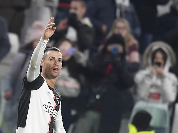 Cristiano Ronaldo z Juventusu Turín sa teší z gólu