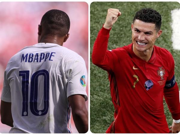 Kylian Mbappé a Cristiano Ronaldo