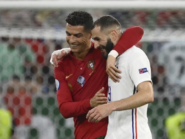 Cristiano Ronaldo a Karim Benzema
