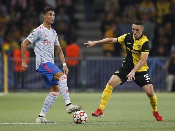 Cristiano Ronaldo v zápase s Young Boys Bern