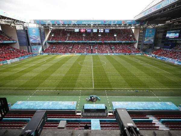 Pohľad na štadión v Kodani