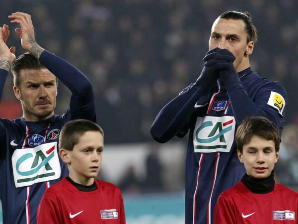 David Beckham a Zlatan Ibrahimovič