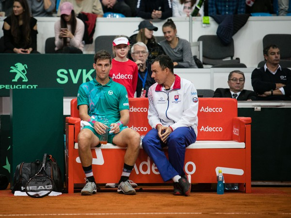 Martin Kližan a Dominik Hrbatý na slovenskej lavičke