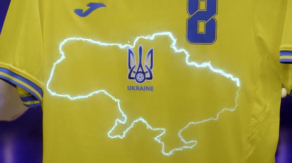 Na snímke nový dres  ukrajinskej futbalovej reprezentácie na EURO 2020