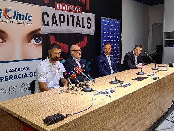 Tlačová konferencia iClinic Bratislava Capitals
