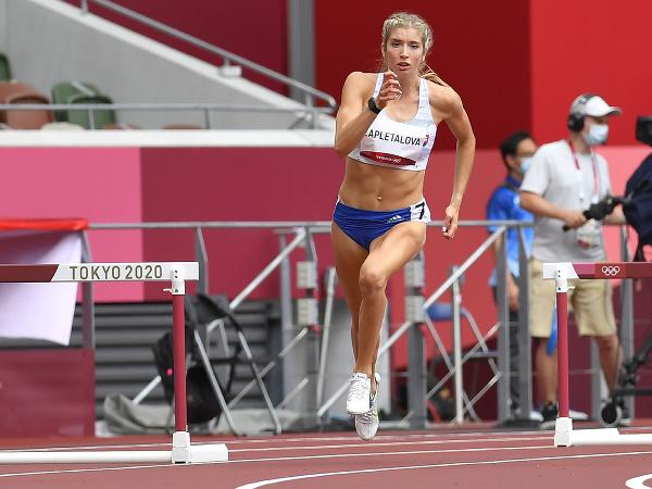 Na snímke slovenská atlétka Ema Zapletalová v kvalifikácii na 400 metrov