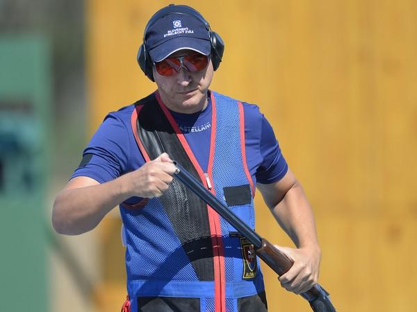 Slovenský reprezentant Erik Varga v kvalifikácii trapu