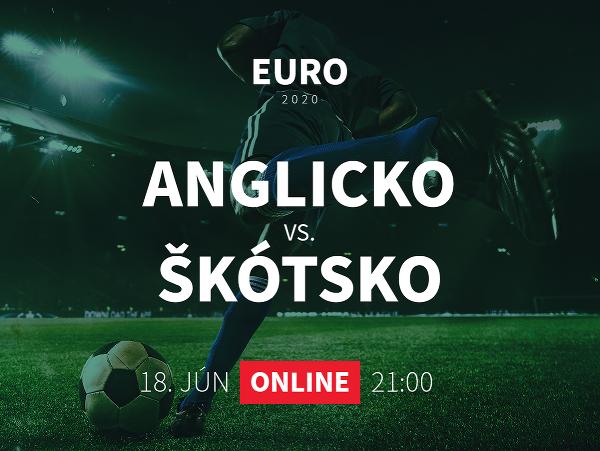 Online prenos z EURO 2020: Anglicko - Škótsko