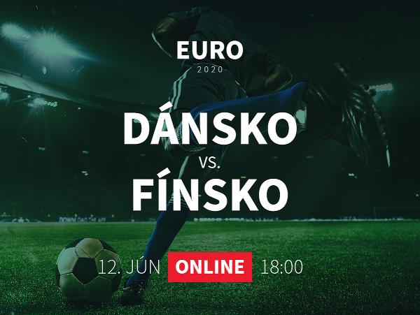 Online prenos z EURO 2020: Dánsko - Fínsko