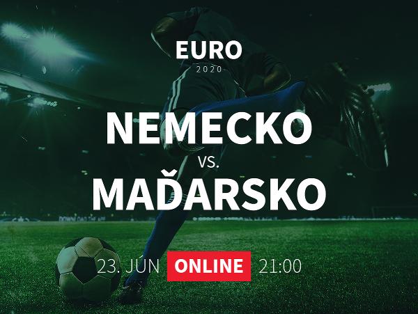 Online prenos z EURO 2020: Nemecko - Maďarsko