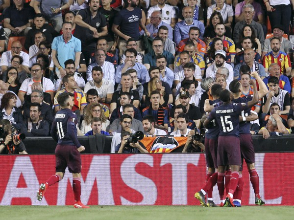 Pierre-Emerick Aubameyang a jeho gólové oslavy so spoluhráčmi