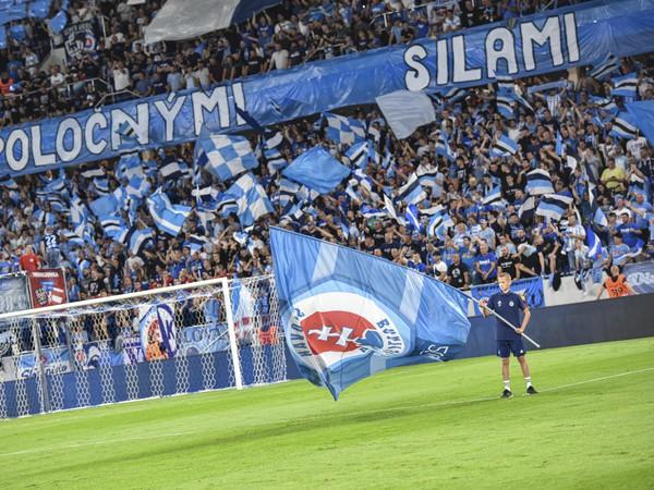 Snímka z prvého zápasu play off Európskej ligy ŠK Slovan Bratislava - PAOK Solún