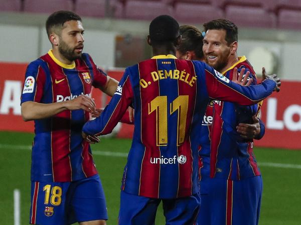 Radosť futbalistov Barcelony