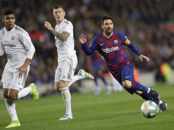 Lionel Messi počas El Clásica